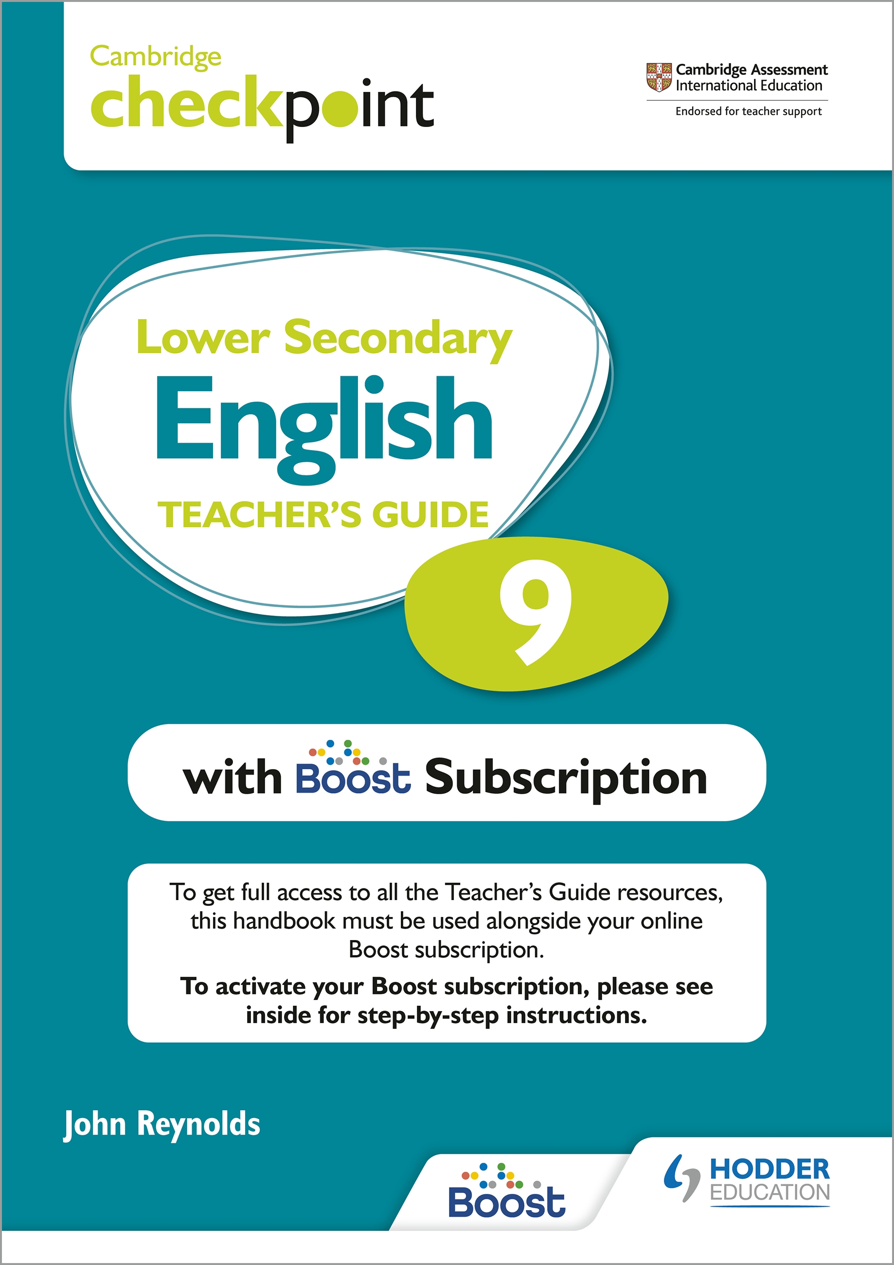 Cambridge Checkpoint Lower Secondary English Teacher's Guide 9 with Boost Subscription Booklet : Third Edition