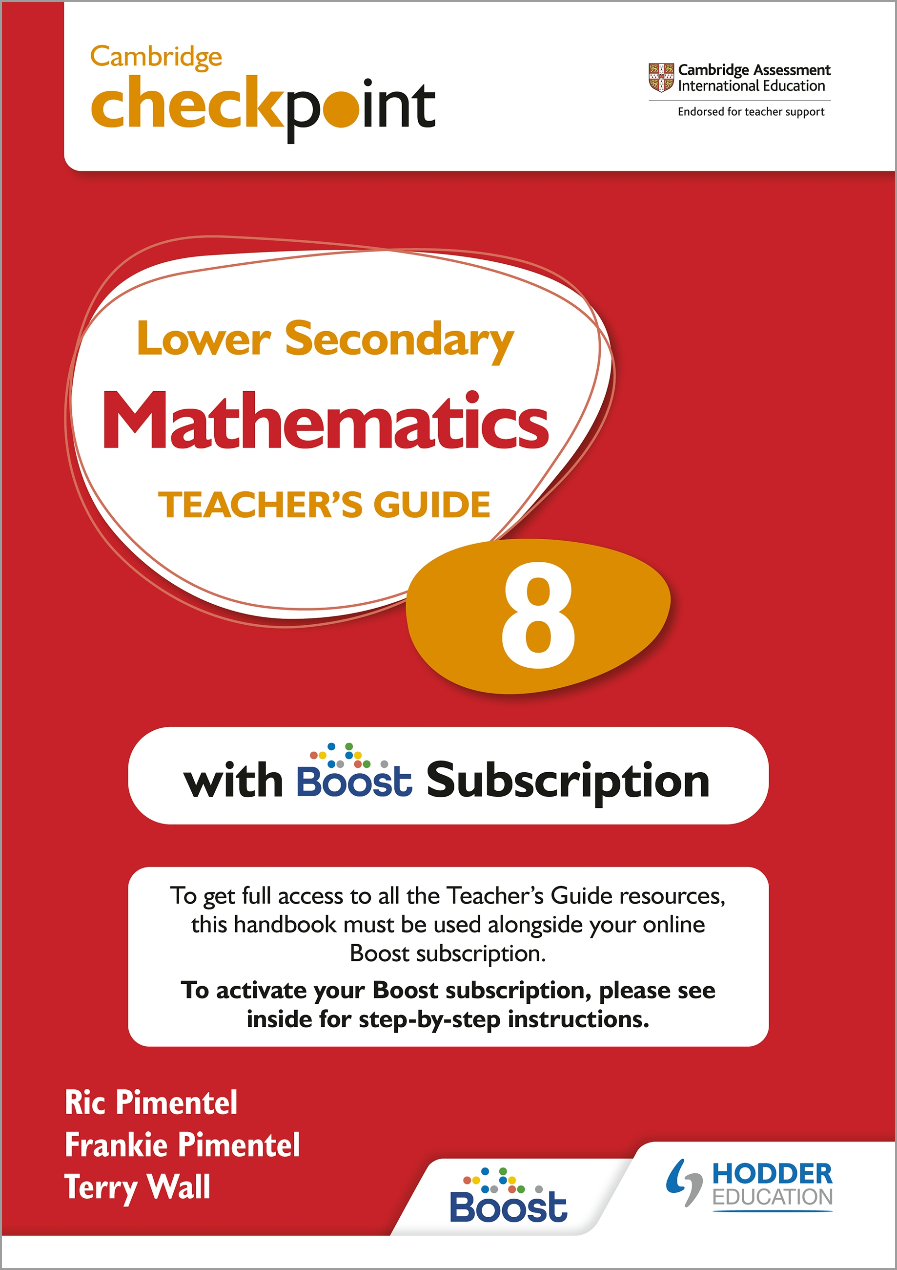 Cambridge Checkpoint Lower Secondary Mathematics Teacher's Guide 8 with Boost Subscription Booklet : Third Edition