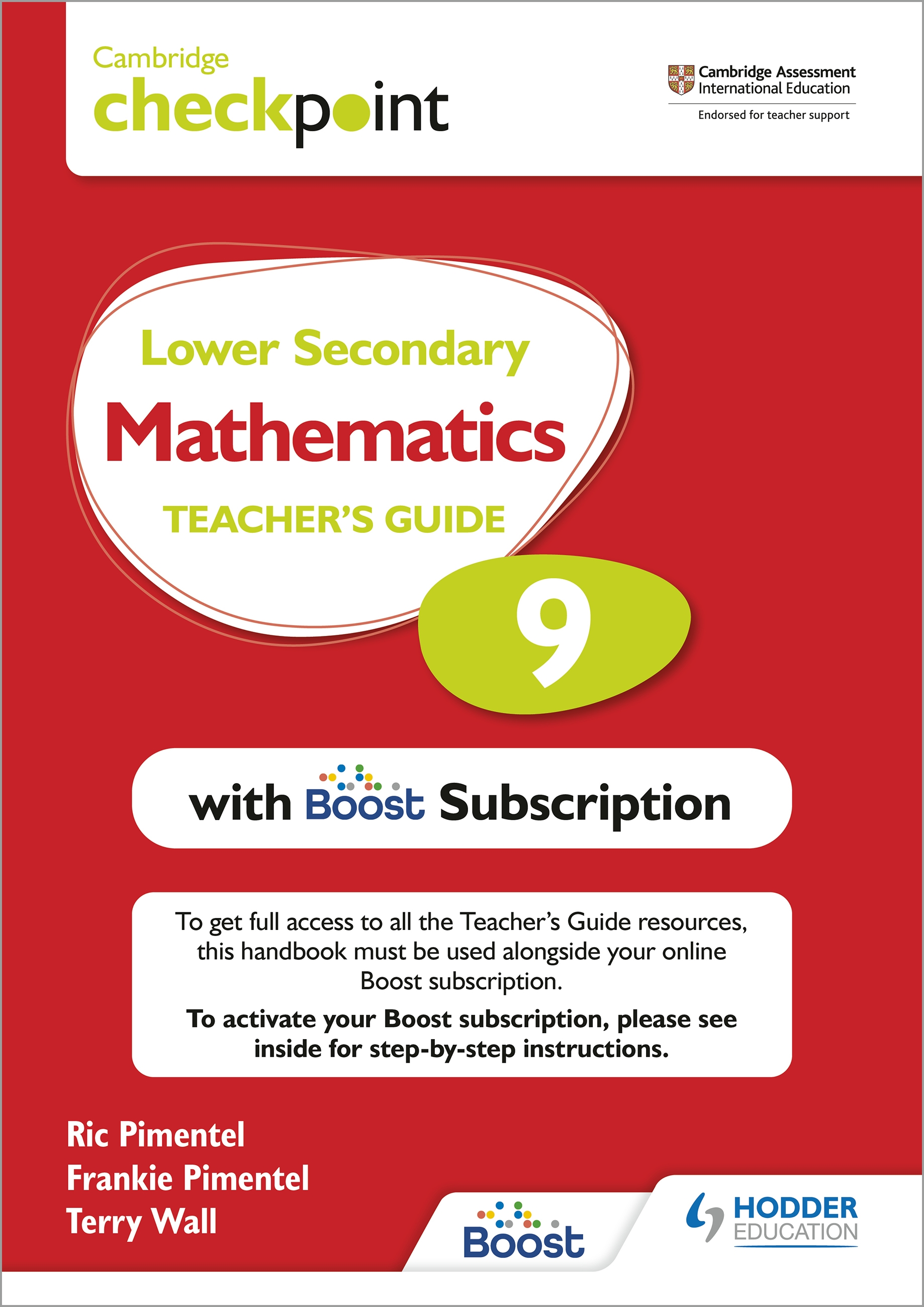 Cambridge Checkpoint Lower Secondary Mathematics Teacher's Guide 9 with Boost Subscription Booklet : Third Edition