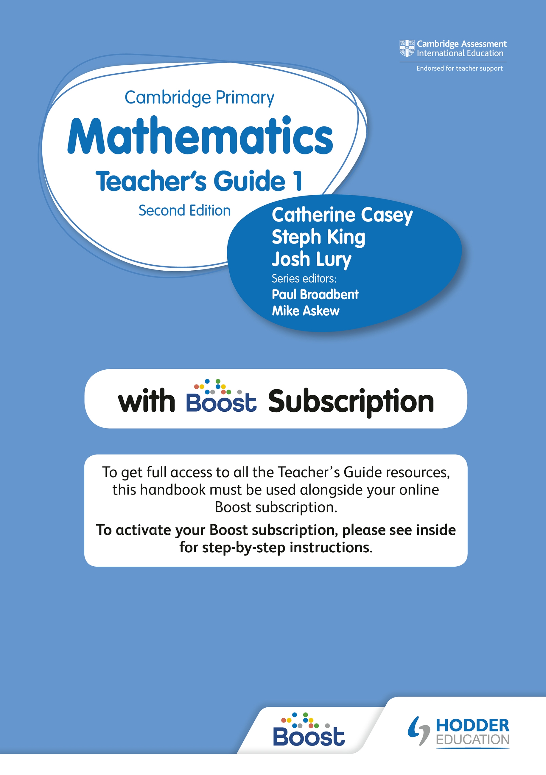 Cambridge Primary Mathematics Teacher's Guide Stage 1 with Boost Subscription