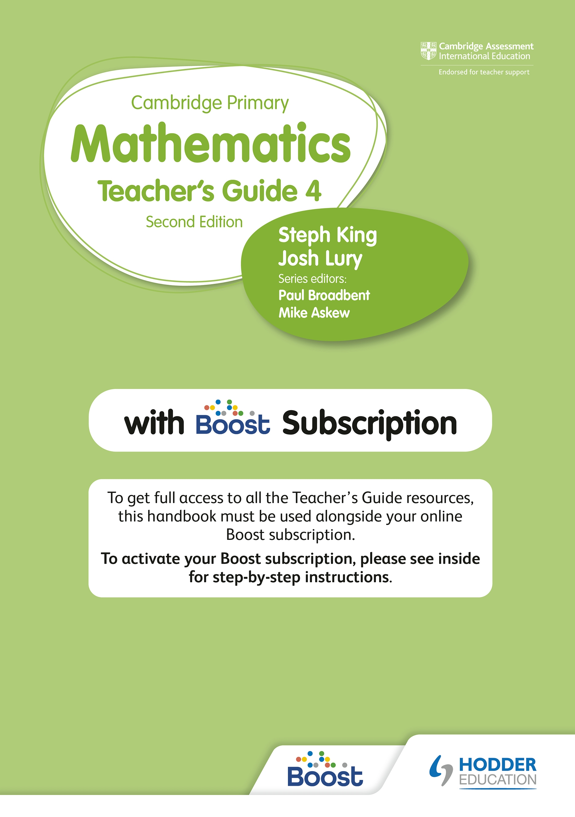 Cambridge Primary Mathematics Teacher's Guide 4 with Boost Subscription