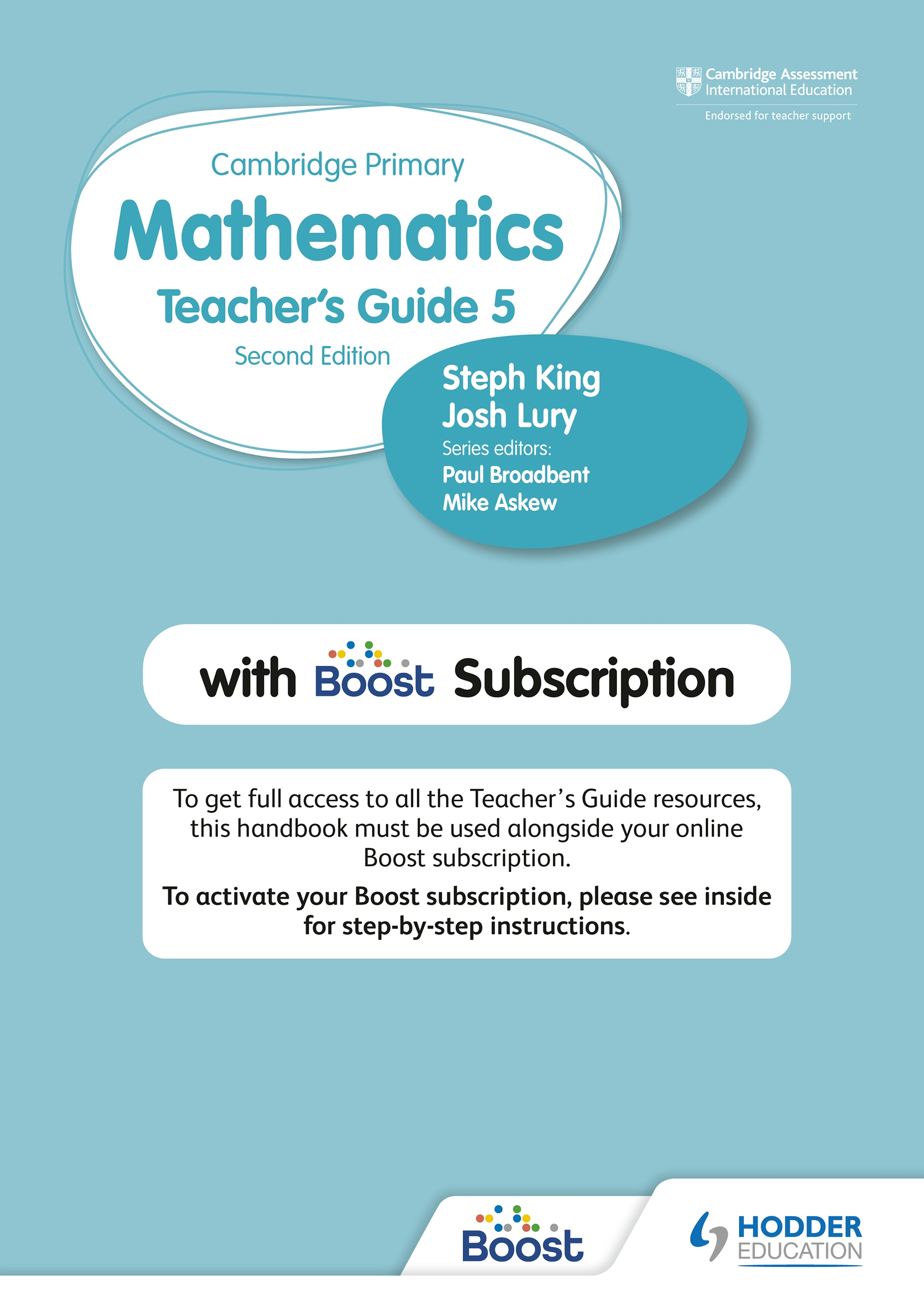 Cambridge Primary Mathematics Teacher's Guide 5 with Boost Subscription