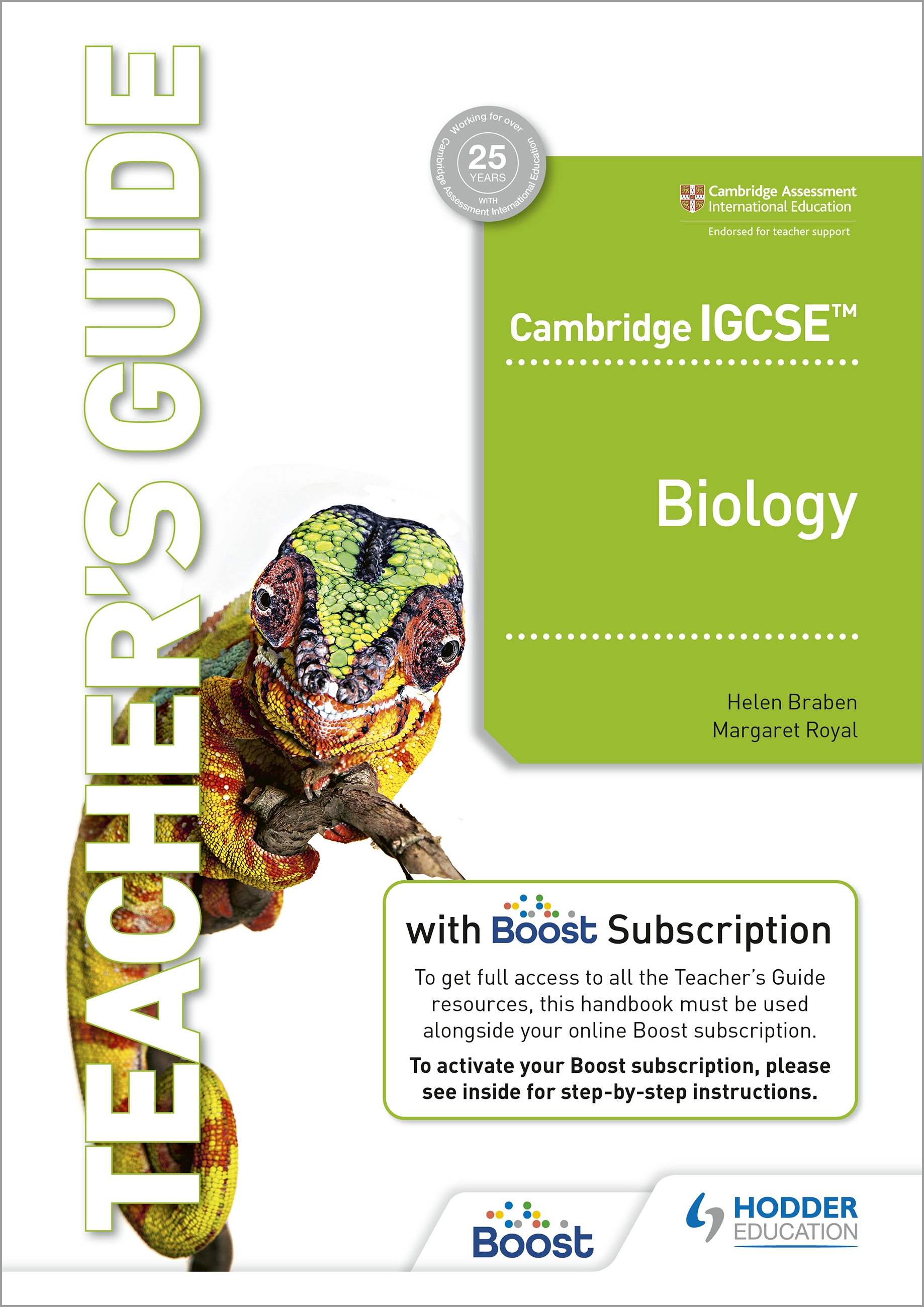 Cambridge IGCSE (TM) Biology Teacher's Guide with Boost Subscription Booklet