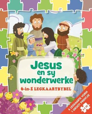 Picture of 6 in 1 legkaartbybel: Jesus en sy wonderwerke sponsgevulde (kartonboekie)