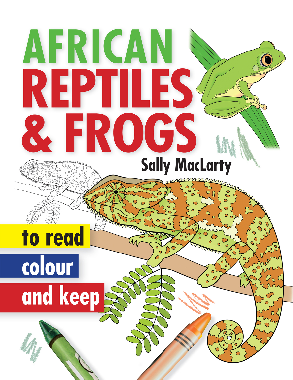 Picture of African reptiles & frogs to read, colour and keep