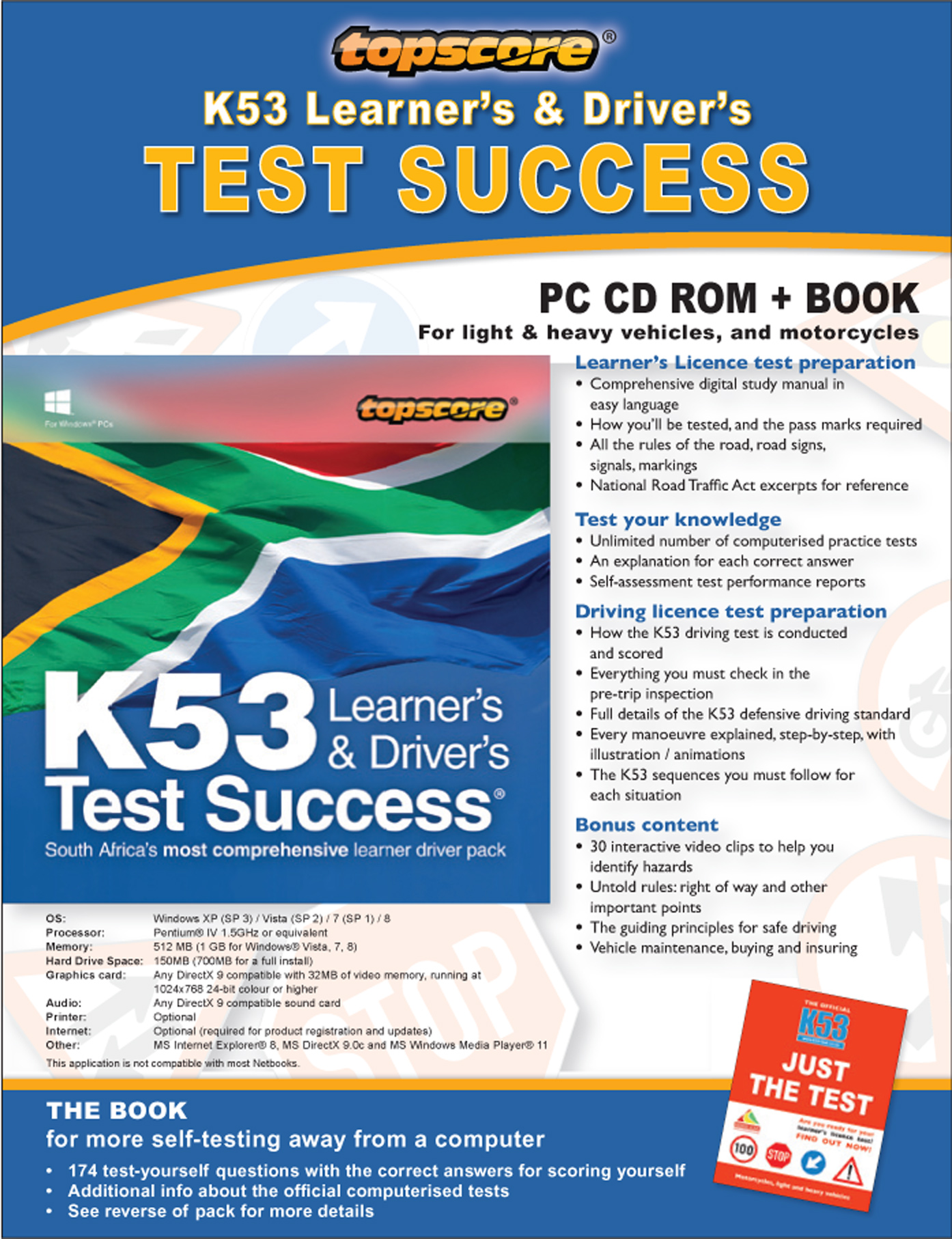 Picture of Topscore K53 learner's & driver's test success