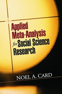 Picture of Applied Meta-Analysis for Social Science Research