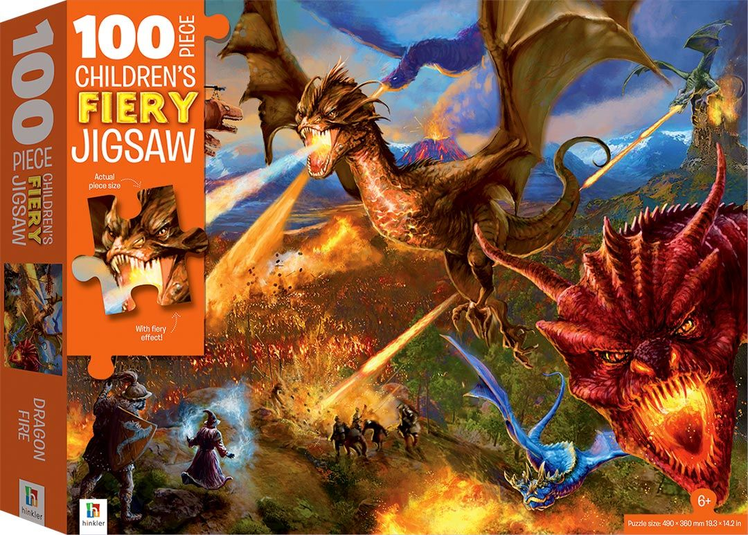 Picture of 100-Piece Children's Jigsaw with Treatments: Dragons