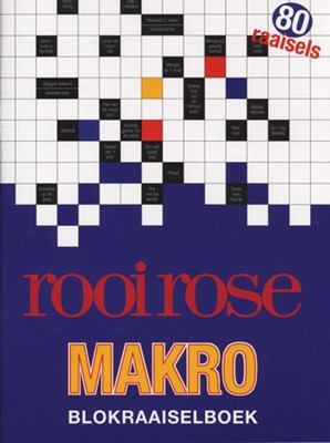 Picture of Rooi Rose-makro-blokraaiselboek