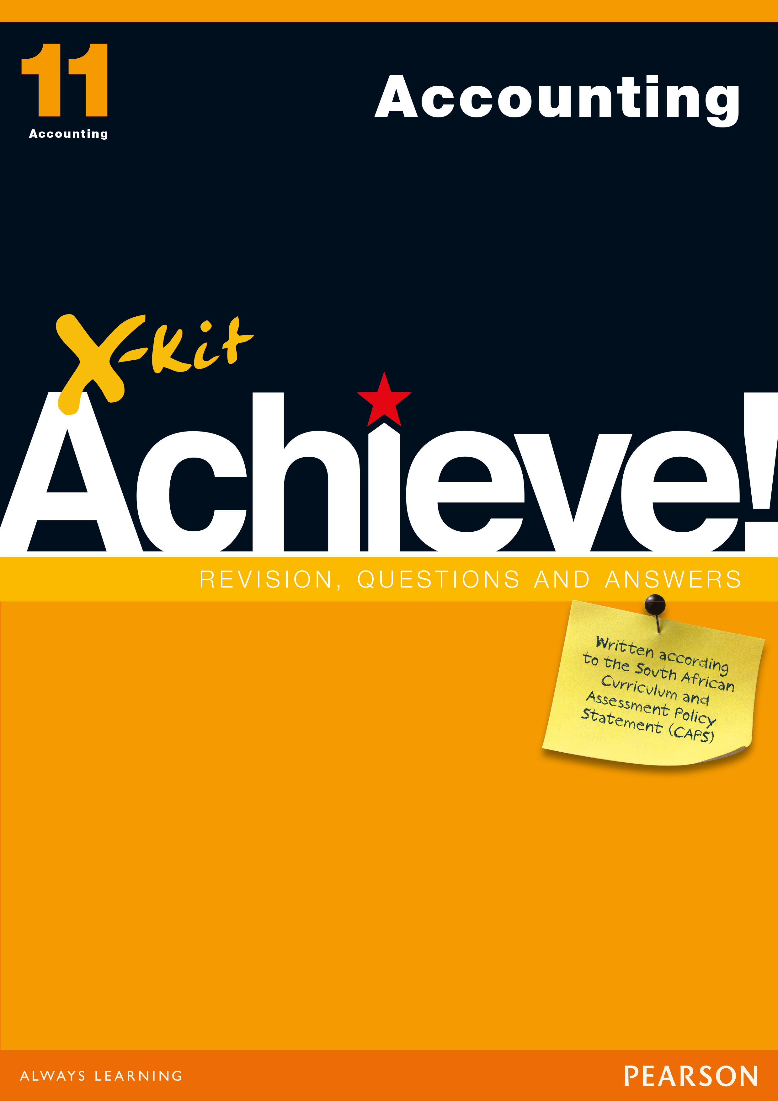 X-Kit Achieve! Accounting : Grade 11 : Study Guide