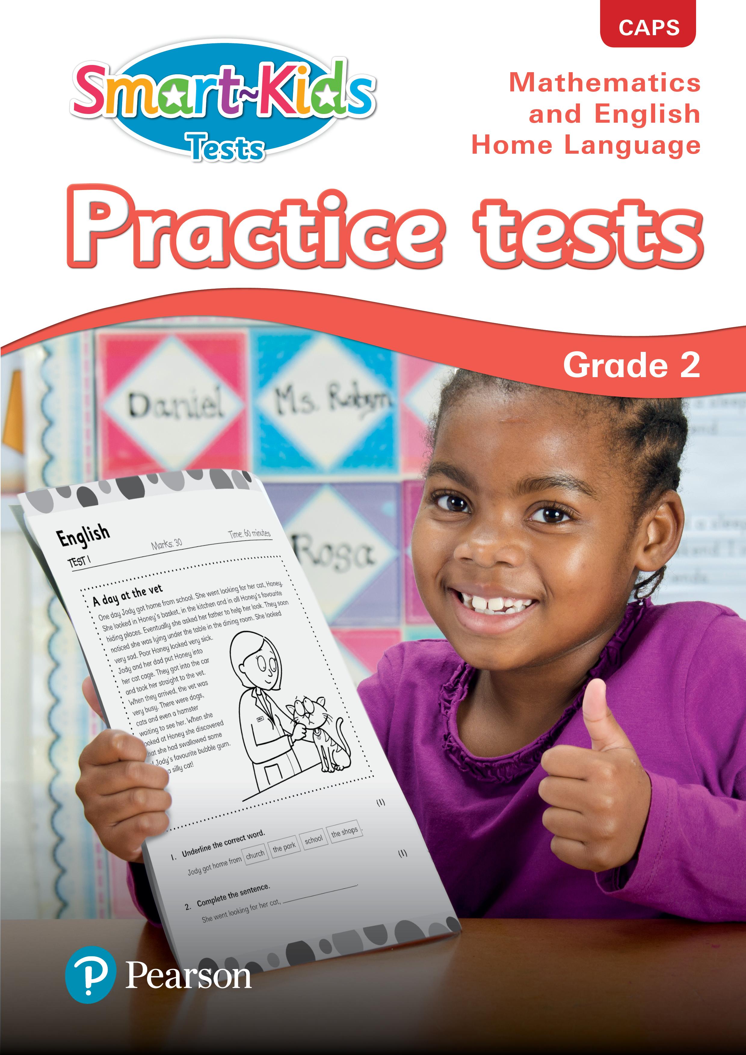 Smart-Kids Practice Tests Mathematics and English Home Language: Grade 2