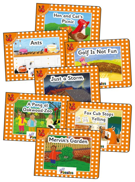 Picture of Jolly Phonics Orange Level Readers Complete Set : in Precursive Letters (British English edition)
