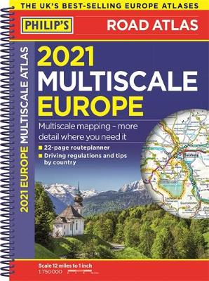 Picture of 2021 Philip's Multiscale Road Atlas Europe : (A4 Spiral binding)