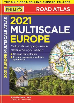 Picture of 2021 Philip's Multiscale Road Atlas Europe : (A4 Flexiback)