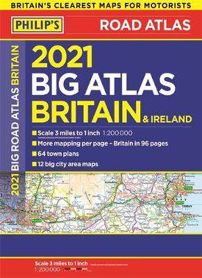 Picture of 2021 Philip's Big Road Atlas Britain and Ireland : (A3 Paperback)
