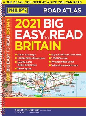 Picture of 2021 Philip's Big Easy to Read Britain Road Atlas : (A3 Spiral binding)