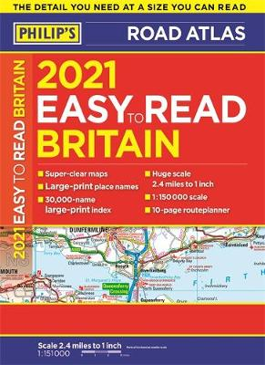 Picture of 2021 Philip's Easy to Read Britain Road Atlas : (A4 Paperback)