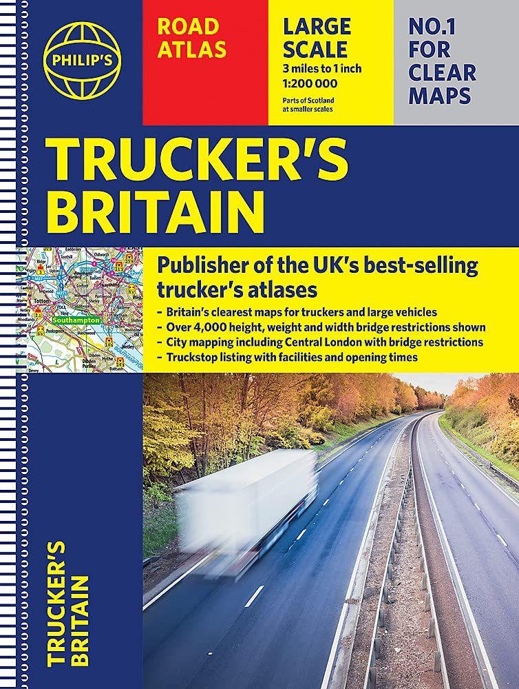 Philip's Trucker's Road Atlas of Britain : (Spiral A3)