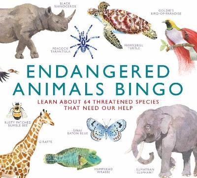 Endangered Animals Bingo : Learn About 64 Threatened Species That Need Our Help