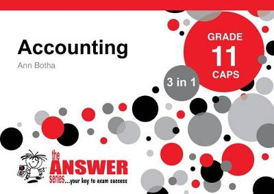 Picture of The Answer Series Grade 11 accounting 3in1 CAPS study guide